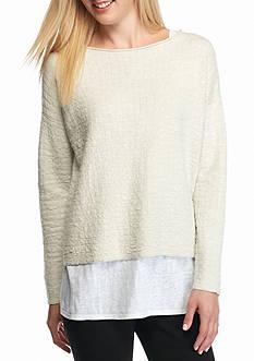 Eileen Fisher Bateau Neck Knit Top
