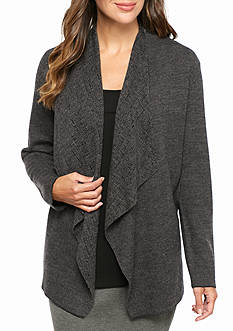 Eileen Fisher Angled Front Sweater Knit Jacket