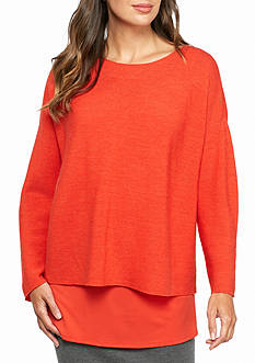 Eileen Fisher Bateau Neck Knit Top