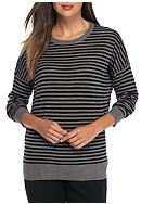 Eileen Fisher Roundneck Stripe Sweater
