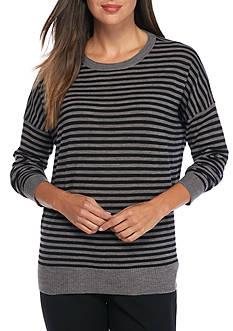 Eileen Fisher Roundneck Stripe Sweater