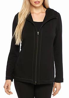 Eileen Fisher Fleece Hooded Jacket