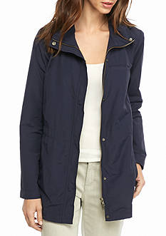 Eileen Fisher Long Sleeve Stand Collar Jacket