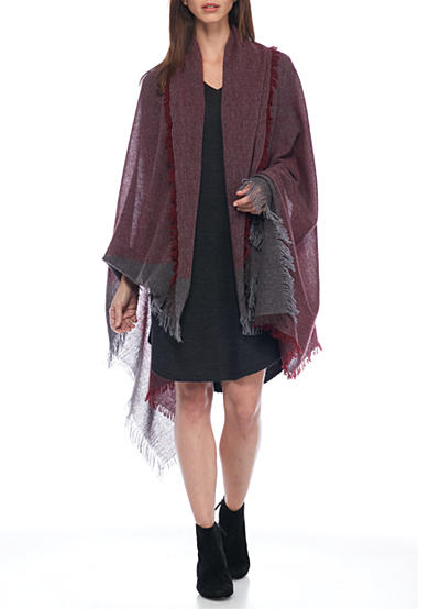 Eileen Fisher Fringe Wrap