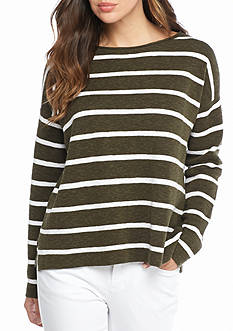 Eileen Fisher Bateau Neck Box-Top