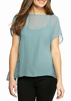 Eileen Fisher Short Sleeve Boxy Top