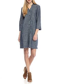 Eileen Fisher V-Neck Knee Length Dress