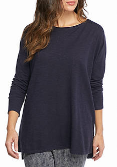 Eileen Fisher Bateau Neck Boxy Tunic