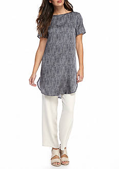 Eileen Fisher Long Printed Top