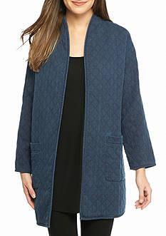 Eileen Fisher Long High Collar Jacket