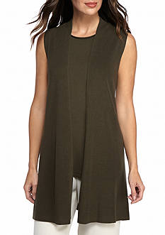 Eileen Fisher Long Open Front Vest