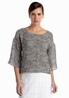 Eileen Fisher Boat Neck Boxy Top Sweater