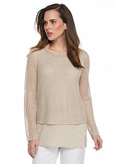 Eileen Fisher Double Lined Knit Top