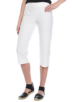 Eileen Fisher Slim Stretch Knit Capri Pants