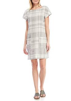Eileen Fisher Bateau Neck Knee Length Dress