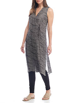 Eileen Fisher Organic Linen V-Neck Wrap Top