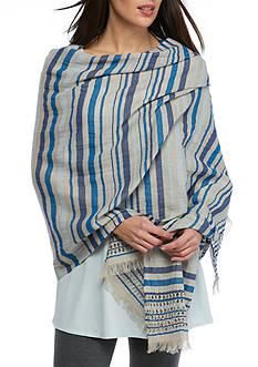 Eileen Fisher Striped Wrap