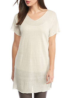 Eileen Fisher V Neck Short Sleeve Tunic
