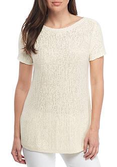 Eileen Fisher Organic Cotton Bateau Neck Top