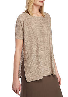 Eileen Fisher Boxed Patterned Top