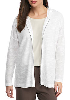 Eileen Fisher Hooded Shaped Cardigan