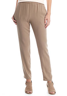 Eileen Fisher Silk Georgette Crepe Slouchy Ankle Pant