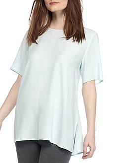 Eileen Fisher Round Neck Short Sleeve Box-Top