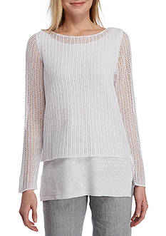 Eileen Fisher Ballet Neck Double Layer Top
