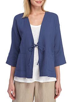 Eileen Fisher V-Neck Kimono Jacket