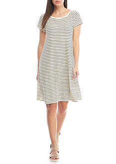Eileen Fisher Ballet Neck Knee Length Dress