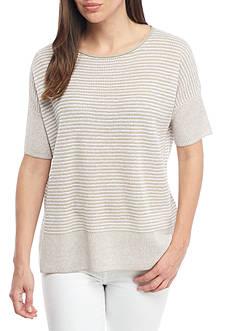 Eileen Fisher Organic Linen Round Neck Top