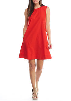 Eileen Fisher Round Neck Knee Long Dress