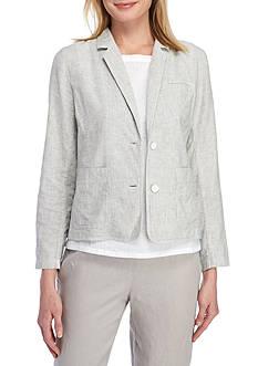 Eileen Fisher Long Sleeve Notch Collar Jacket
