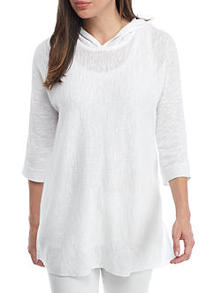 Eileen Fisher Organic Linen and Cotton Hooded Top