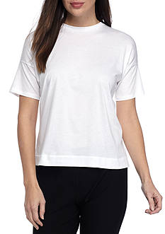 Eileen Fisher Organic Cotton Round Neck Boxy Tee