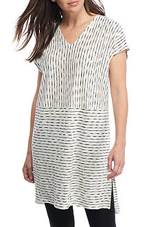 Eileen Fisher Organic Linen Jersey V-Neck Tunic