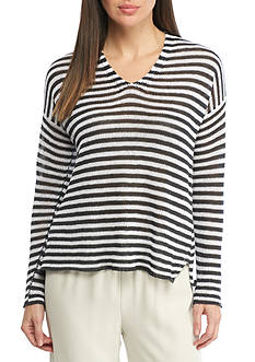 Eileen Fisher V Neck Box Top Sweater