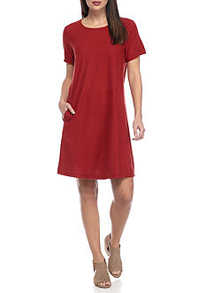 Eileen Fisher Round Neck Long Dress