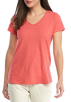 Eileen Fisher Organic Cotton Jersey V-Neck Top