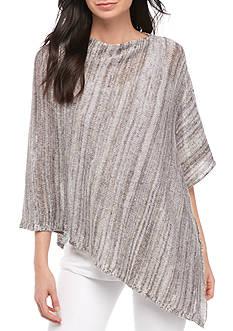 Eileen Fisher Organic Linen Knit Twist Poncho
