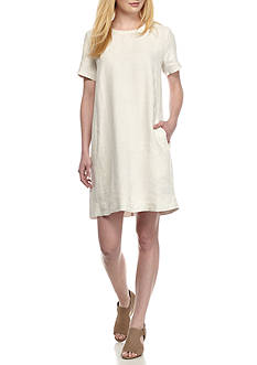 Eileen Fisher Round Neck Knee Long Dress