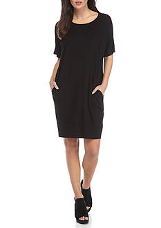 Eileen Fisher Round Neck Knee Length Dress