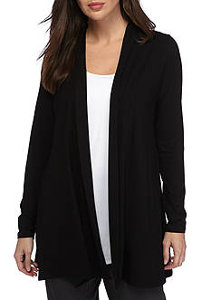 Eileen Fisher Lightweight Viscose Jersey Simple Long Cardigan