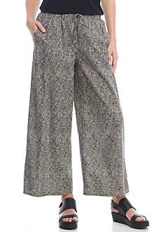 Eileen Fisher Organic Cotton Wide Leg Pant