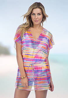 Lauren Ralph Lauren Tie Dye Poolside Tunic Cover Up