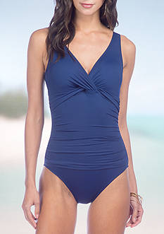 Lauren Ralph Lauren Beach Twist Underwire One Piece Swimsuit