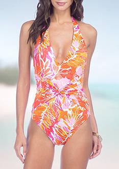 Lauren Ralph Lauren Lush Plunge One-Piece Swimsuit