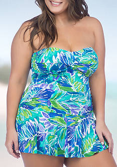 Lauren Ralph Lauren Plus Size Lush Tropical Skirted One Piece Swimsuit