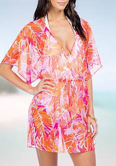 Lauren Ralph Lauren Lush Poolside Tunic Swimsuit Cover Up