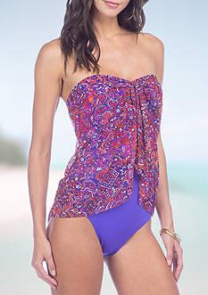 Lauren Ralph Lauren Tile Flyaway One-Piece Swimsuit